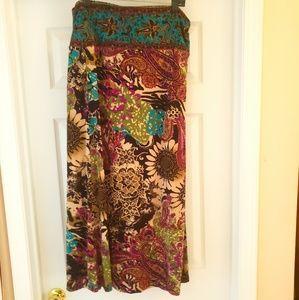 ECI Floral Print Maxi Skirt